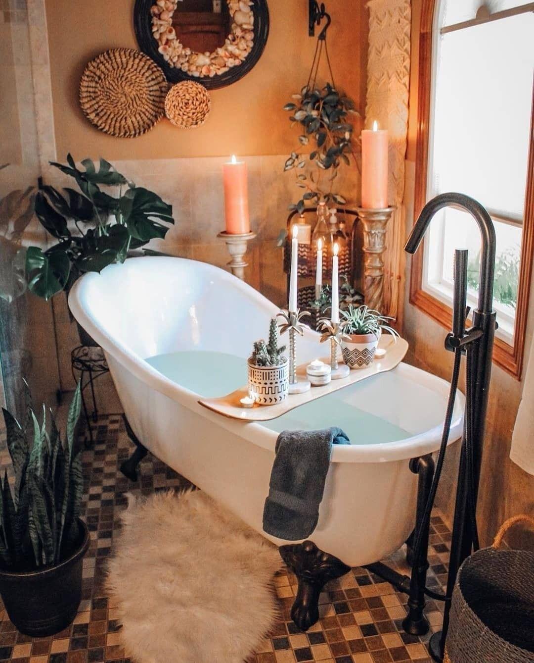 Boho Chic Home Decor Plans And Ideas Boho Badezimmer Rustikale Bader Rustikale Bad Eitelkeiten