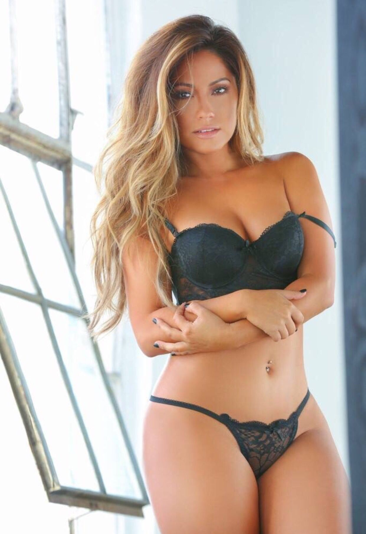c03c5b6b504 Jessica Burciaga in black lingerie. The girl can do NO wrong ...