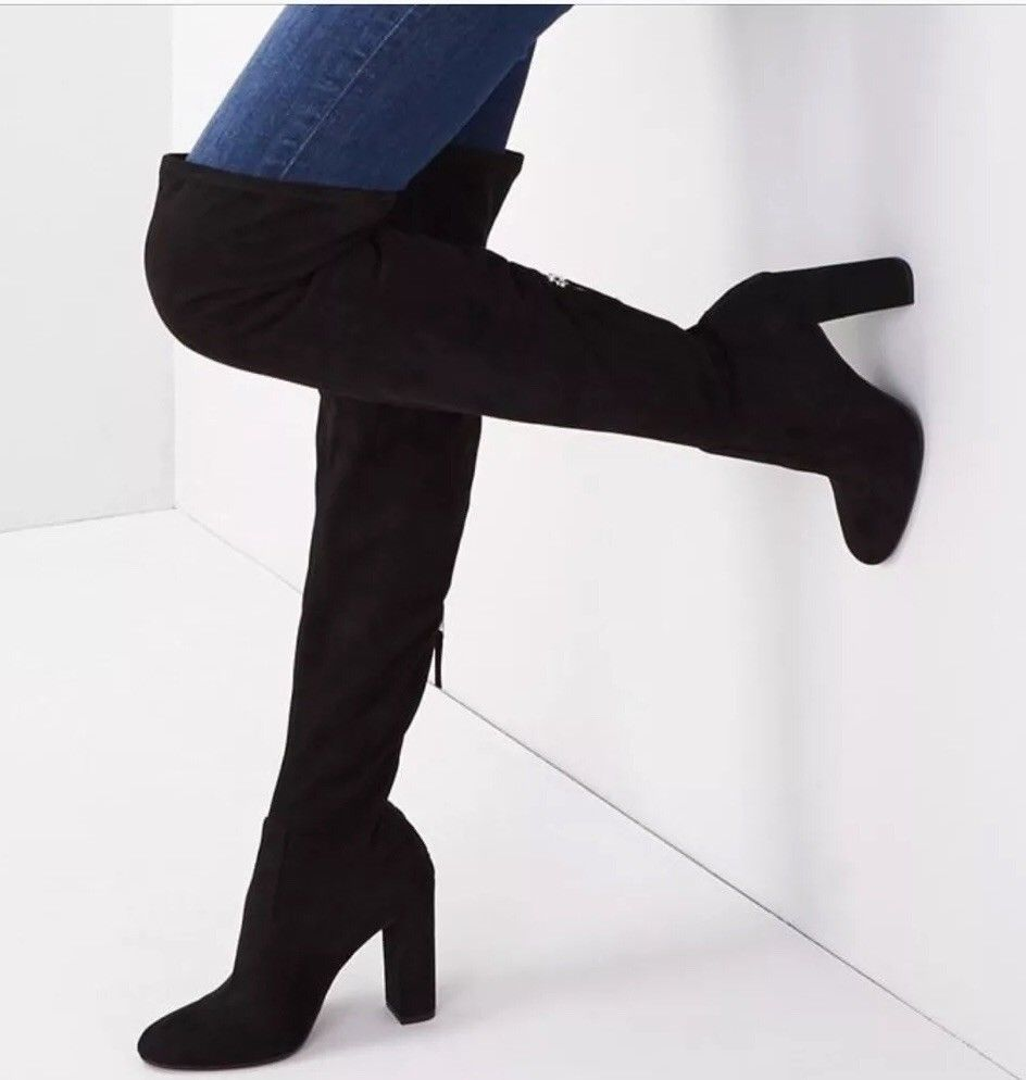ff6ff2467a9 Steve Madden Emotions Over the Knee Boot BlackStretch Women Size 5.5 M   fashion  clothing  shoes  accessories  womensshoes  boots (ebay link)