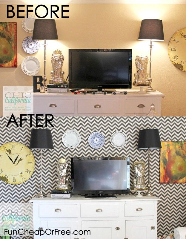 Starch + Fabric = (Removable) Faux Wallpaper | Fabric wallpaper ...