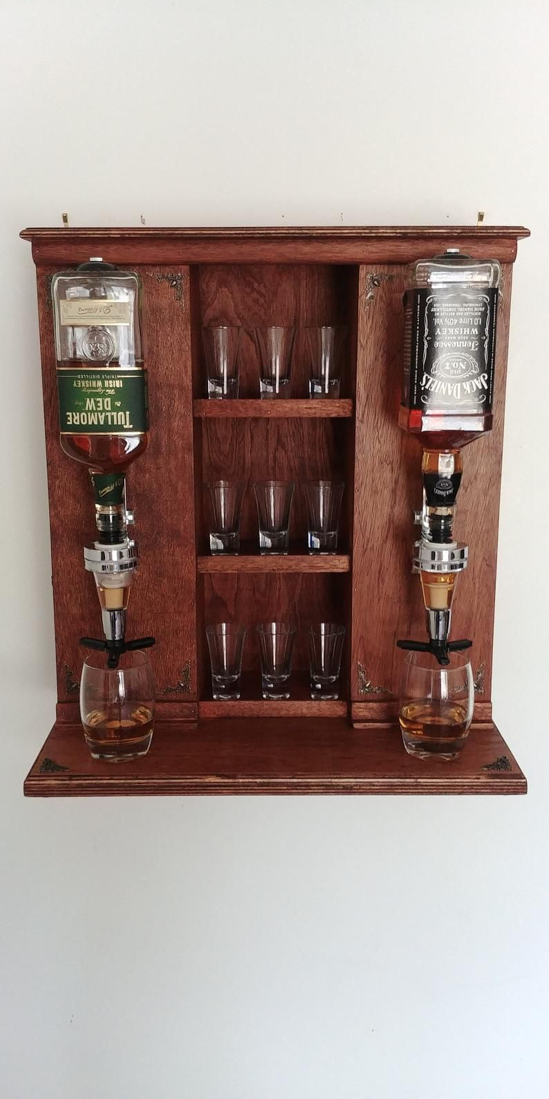 Whiskey Bar Mini Baralcohol Dispenserwhiskey Standwhiskey Etsy In 2020 Whiskey Bar Liquor Storage Kegerator Diy