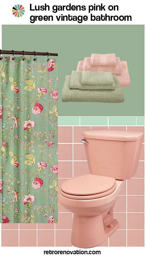 11 Ideas To Decorate A Pink And Green Tile Bathroom With Images