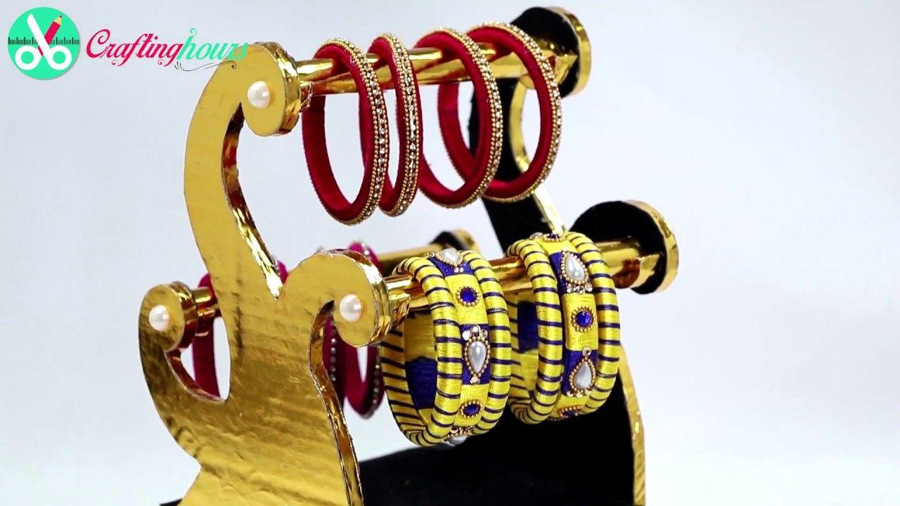 How to Make Luxury Bangle Stand & Jewellery Box with Cardboard | Box