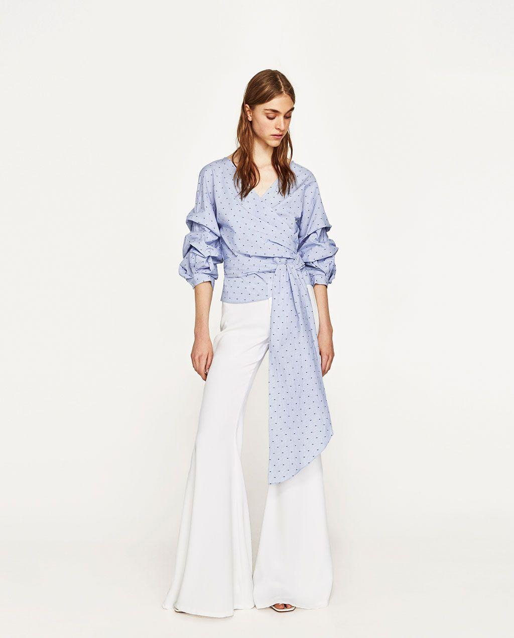 BLUSA LAZO MANGA PLIEGUES | my love is online | Pinterest | Moda ...