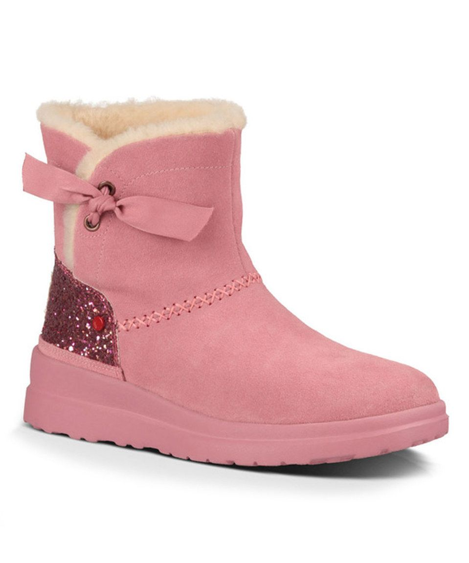 UGG® Australia Gumball Glitter I Heart Knotty Suede Boot - Women by UGG® Australia #zulily #zulilyfinds