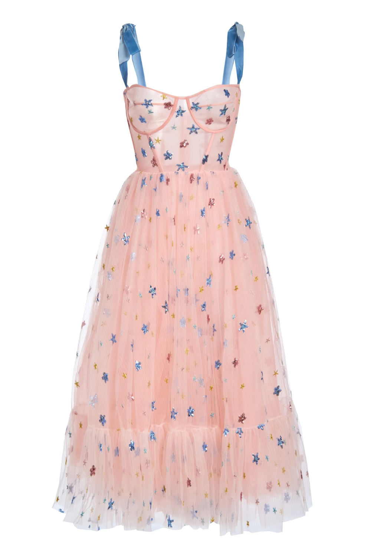 Pink Sky Midi Dress Girly Dresses Fashion Fashion Outfits [ 1498 x 1000 Pixel ]