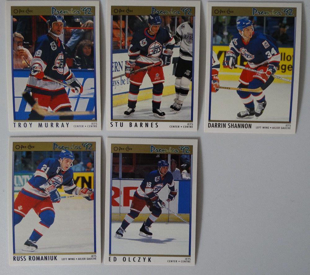 199192 OPeeChee Premier Winnipeg Jets Team Set 5 Hockey