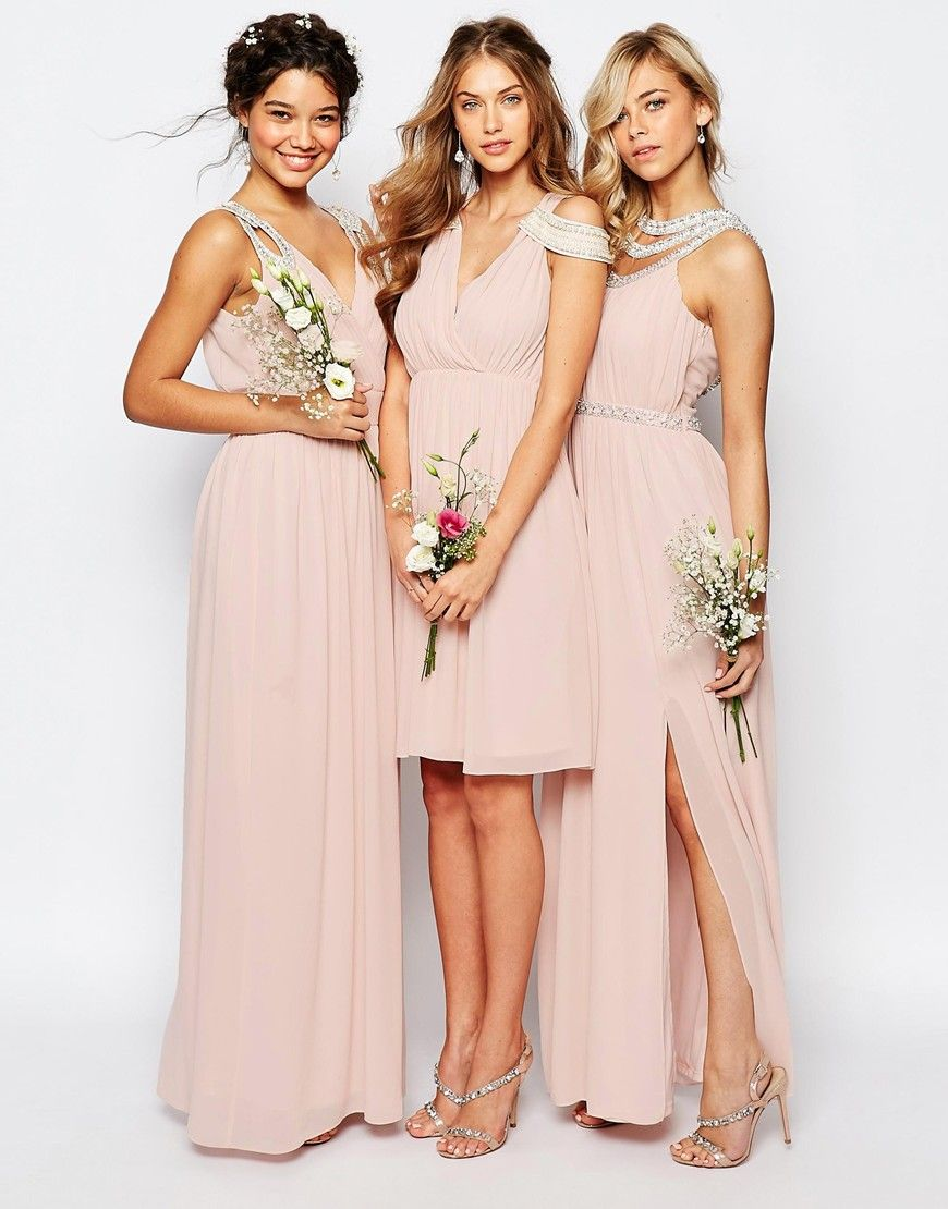 Image 3 of tfnc wedding cold shoulder wrap front midi dress shop our collection of bridesmaid dresses in stunning maxi embellished and strapless styles find your bridesmaid dress to stand out on the special day ombrellifo Gallery