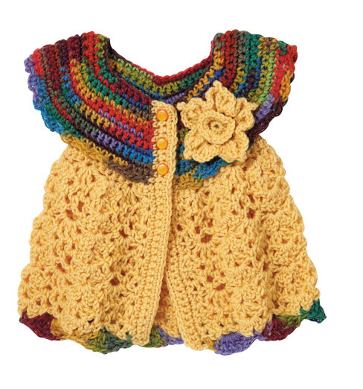 Free Crochet Baby Dress Pattern | Baby sweaters, Babies and Crochet