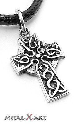 Keltisches Kreuz mit Herz Kelten Sterling Silber 925 Anhänger ohne Kette