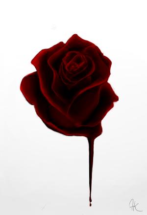 tattoo rose Gothic bleeding