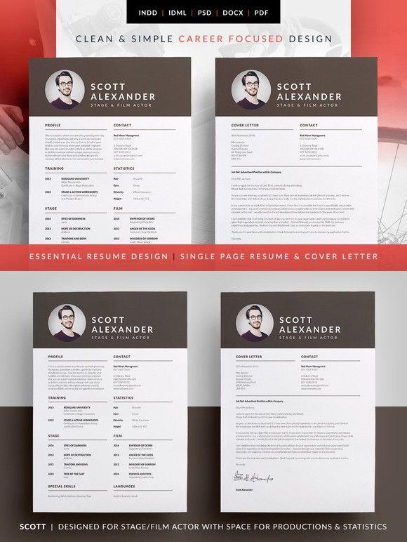 Essential Resume - Scott Resume Templates Pinterest Template