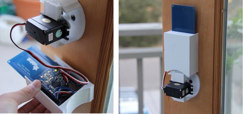 Convert Your Front Door Lock To An Nfc System Using A Qduino Mini Http 3dprint Com 53583 Nfc Door Lock Qduino Mi Smart Door Locks Front Door Locks Door Locks