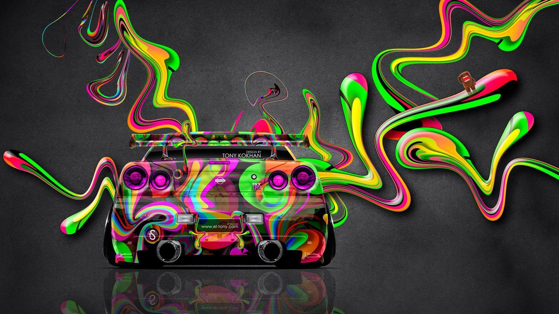 Nissan Skyline GTR R34 JDM Super Plastic Car 2014 « El Tony
