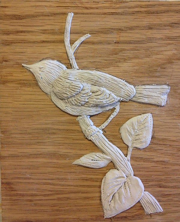 Raised Wood Putty Stenciling Thanks For Letting Me Share This With You And Visit Me On My Blog Air Dry Clay Projects Clay Moulding Clay Crafts Air Dry