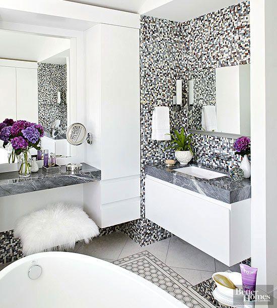 Modern Bathroom Design Ideas Vanity area, Marble countertops and