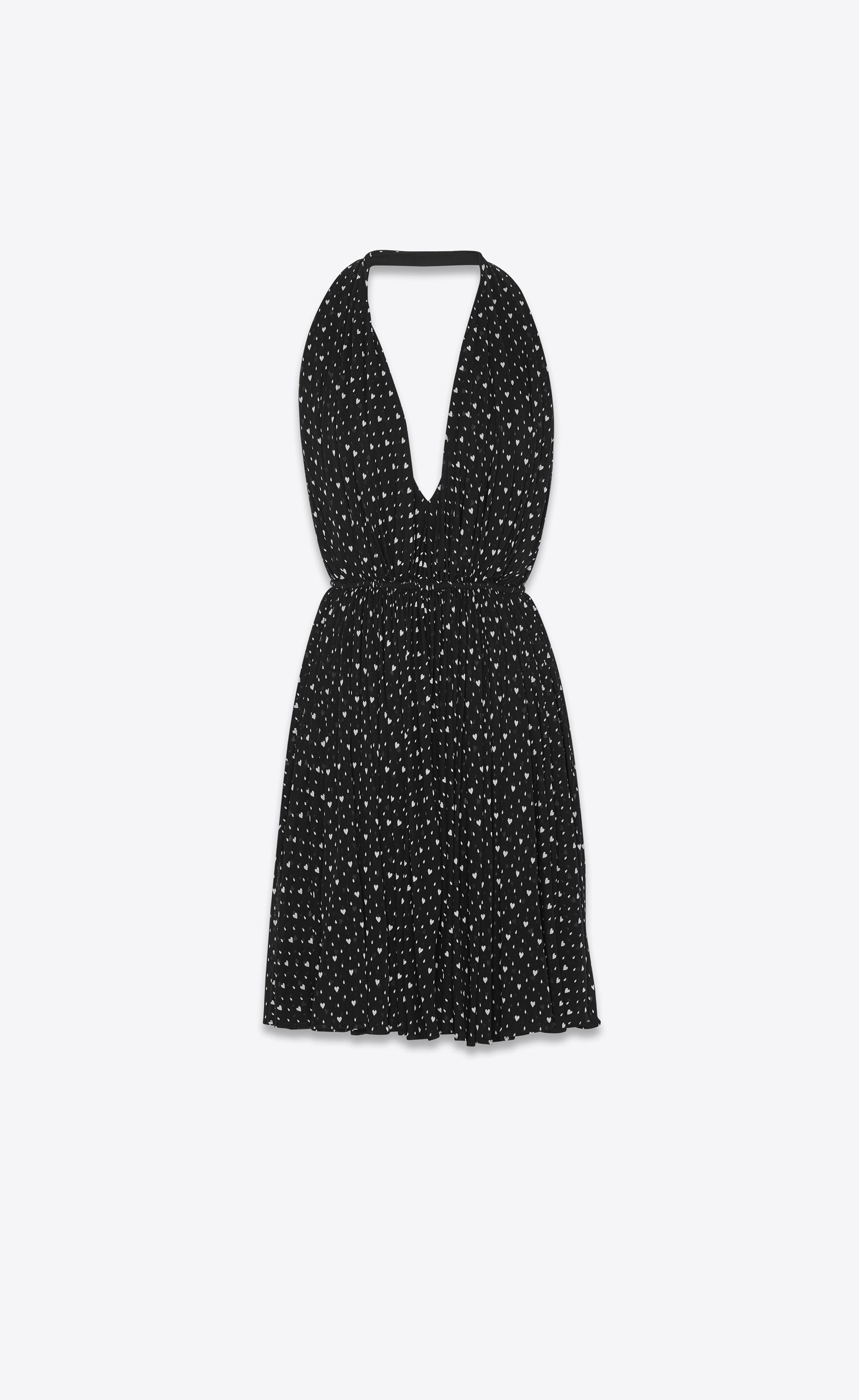 07f768de75 Saint Laurent Backless Dress In Heart Print Jersey | YSL.com ...