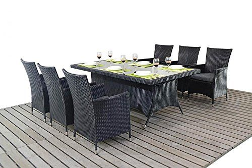Garden Furniture 6 Chairs sydney urban garden furniture 6 seater rectangular dining table
