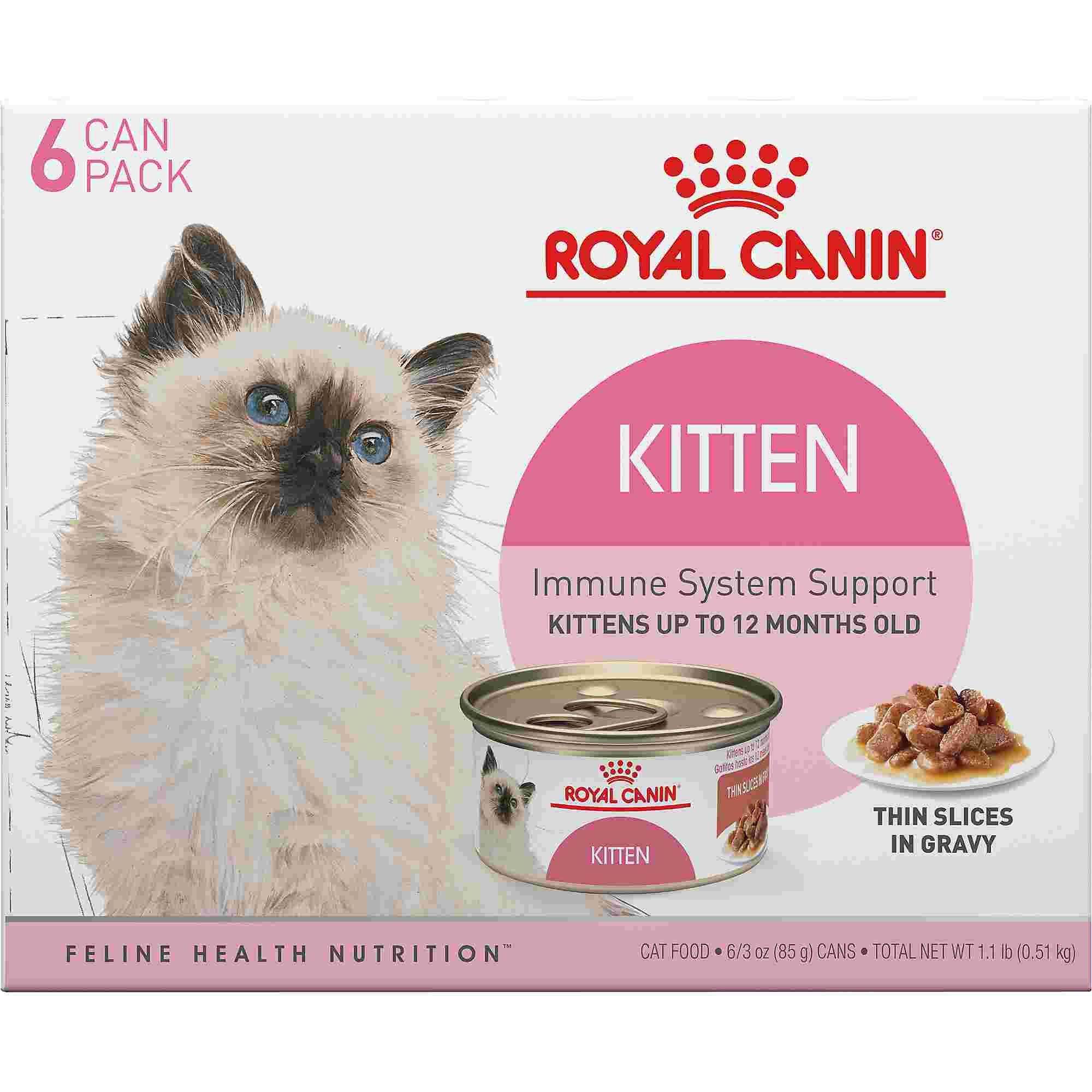 Royal Canin Feline Health Nutrition Thin Slices In Gravy Variety Pack Wet Kitten Food 3 Oz Count Of 6 Petco Feline Health Kitten Food Health And Nutrition