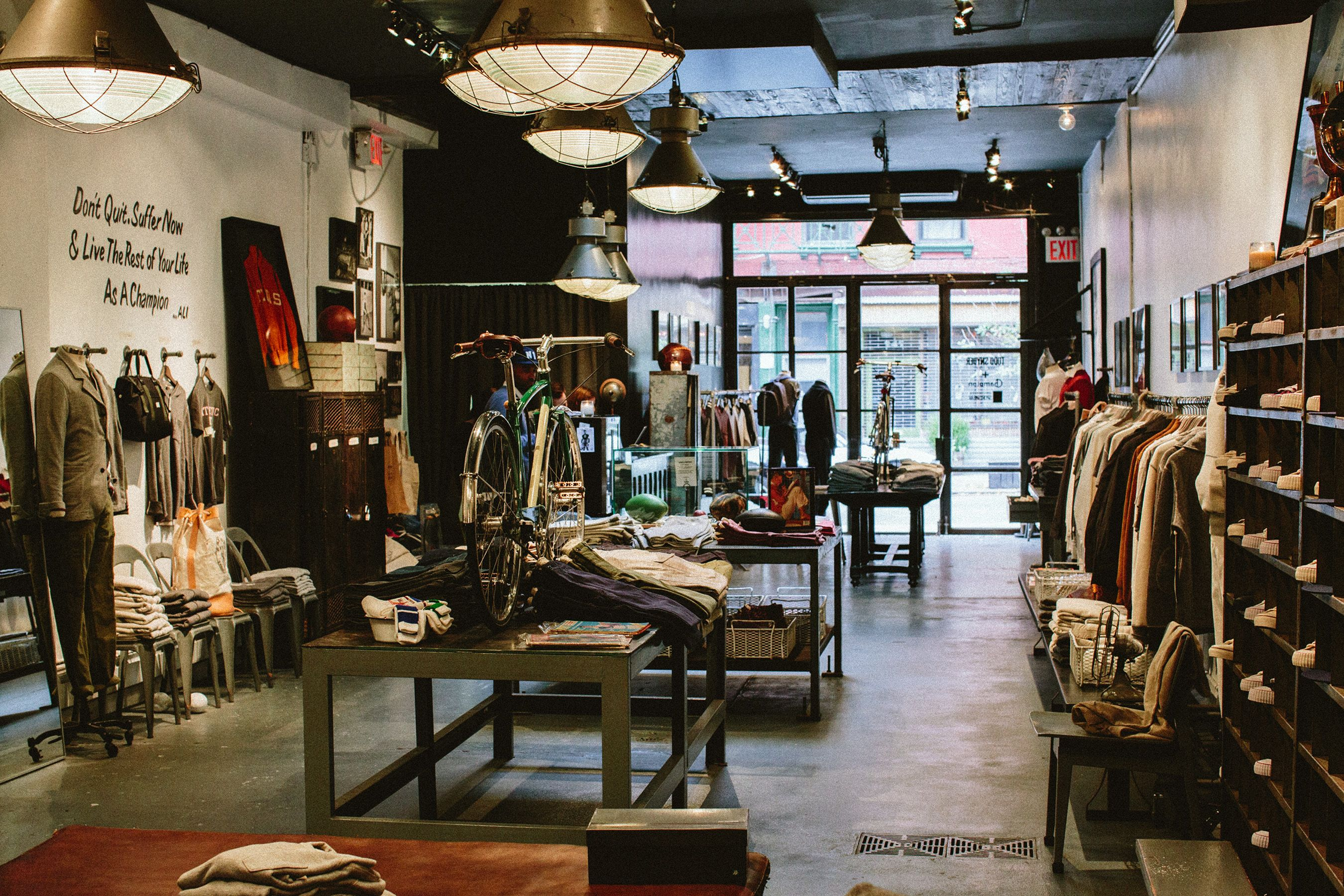 Todd Snyder + Champion store in NYC. Store Design by Acre Interior Design  by www 223ae55f4