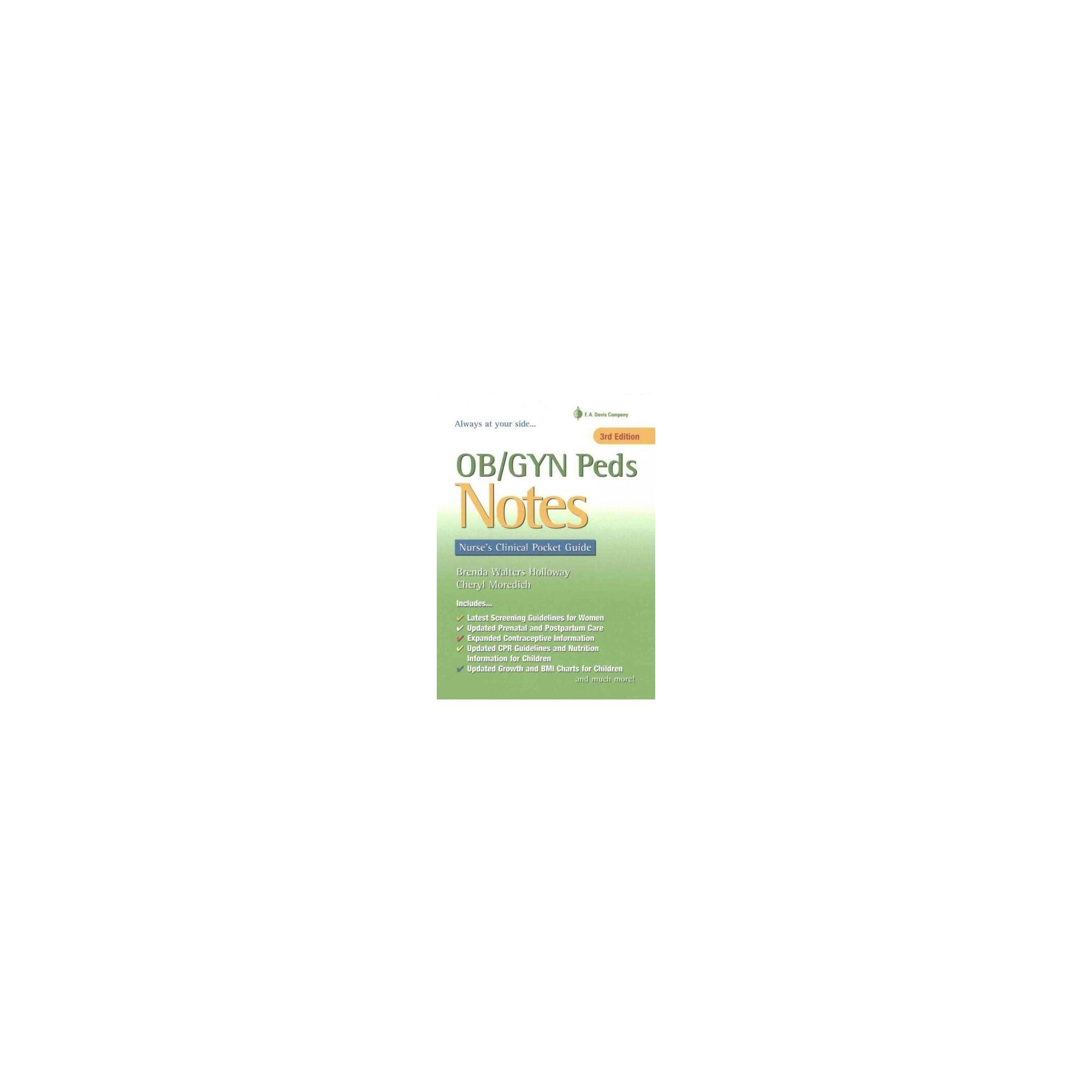 Ob Gyn Peds Notes Nurse S Clinical Pocket Guide Paperback