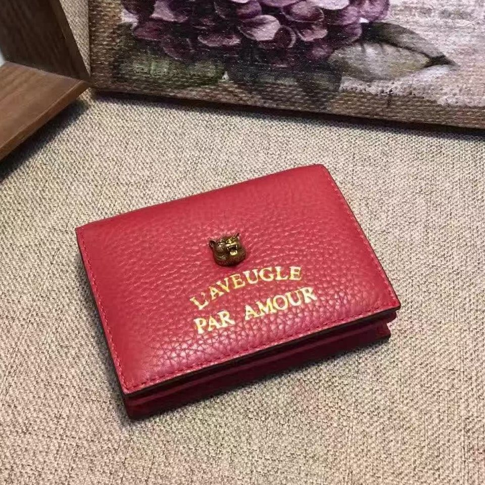 Gucci animalier card case tiger 453169 red 2017 gucci