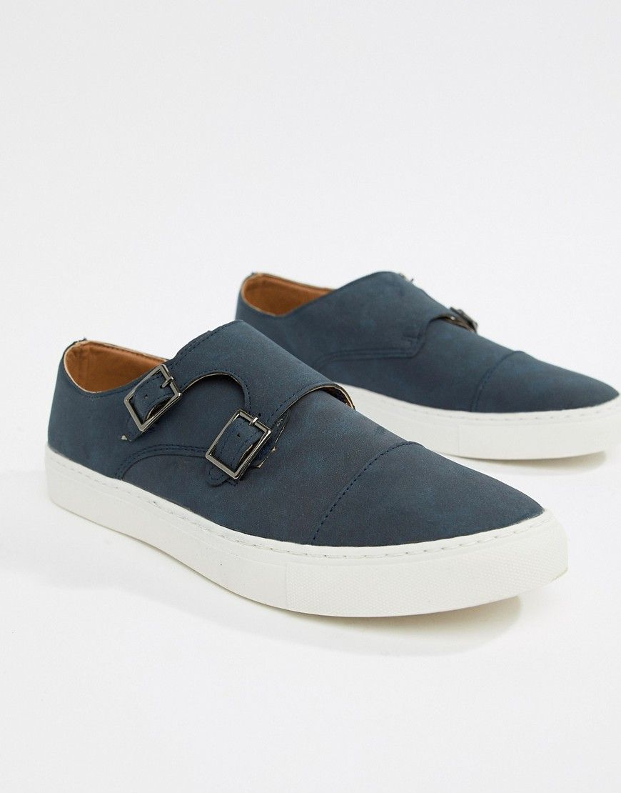 b129a3d6c5cfa NEW LOOK MONK SHOES IN NAVY - NAVY. #newlook #shoes   New Look ...