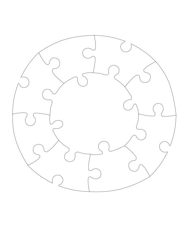 Template For A SelfMade Puzzle  Pieces Others Also Available