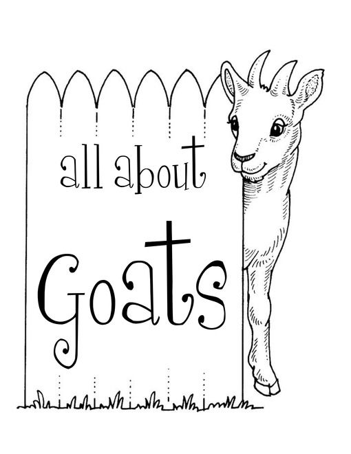 Goats Animal Unit Study Lessons And Lapbook Printables