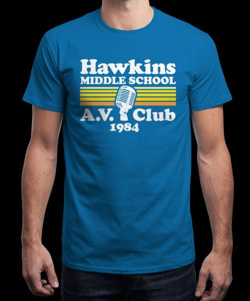 """Hawkins AV Club"" is today's £9/€11/$12 tee for 24 hours only on Pin this… 
