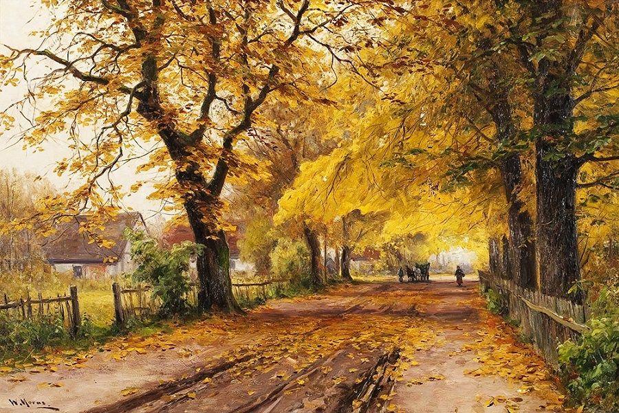 Немецкий художник Walter Moras (1856-1925)
