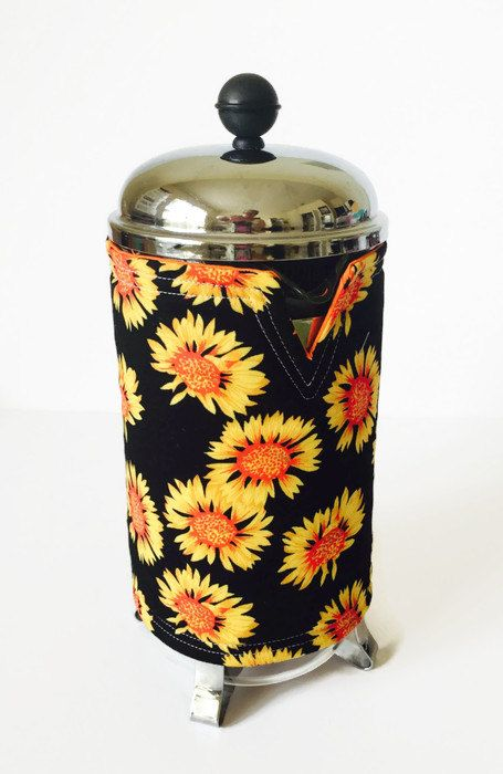 Sunflower Coffee Pot Cosy Reversible By Bubblesandsqueaks