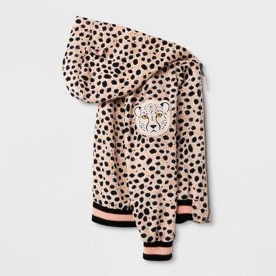 3edf553750a8 Toddler Girls' Bomber Jacket - Genuine Kids from Oshkosh Cheetah Print 3T,  White