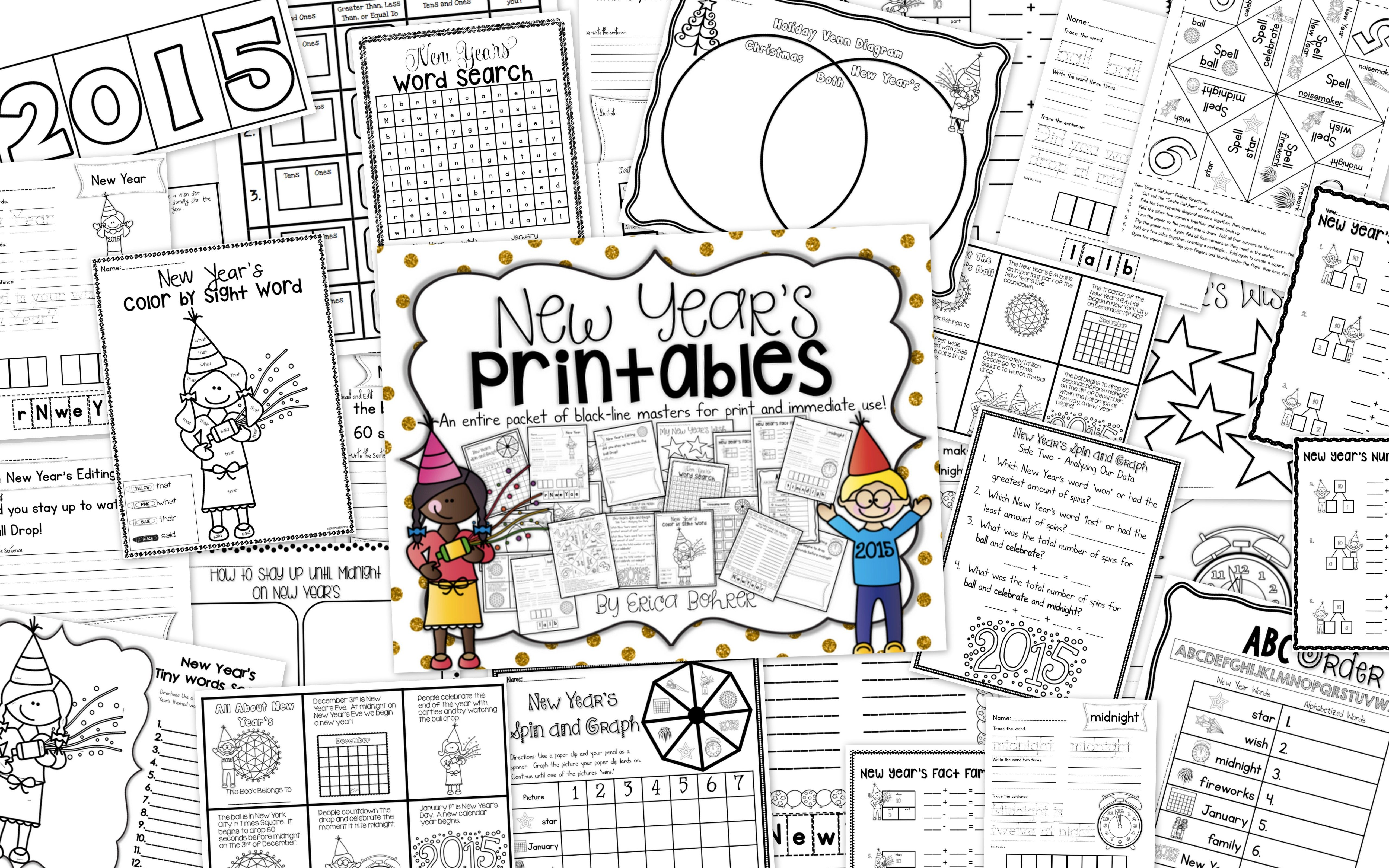 New Year S Printables