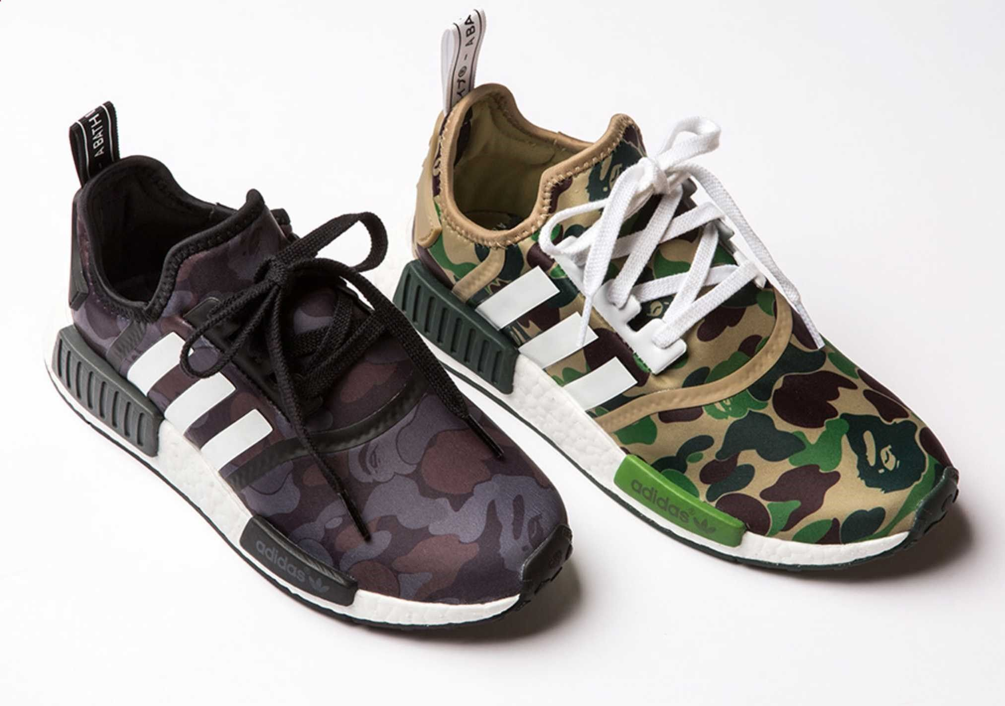 best sneakers b1a56 b1090 A Detailed Look at the BAPE x adidas NMD R1.
