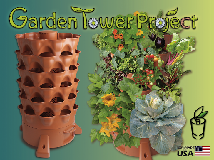 Self-Fertilizing Vertical Garden Tower Reaches Kickstarter Goal in Just 33 Minutes