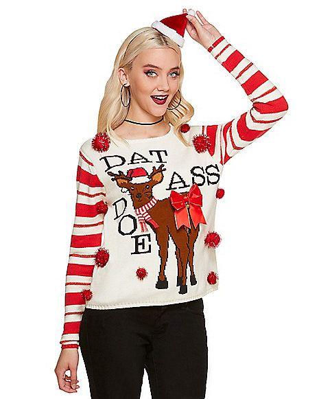 4dfef1968ee Dat Ass Doe Ugly Christmas Sweater - Spirithalloween.com