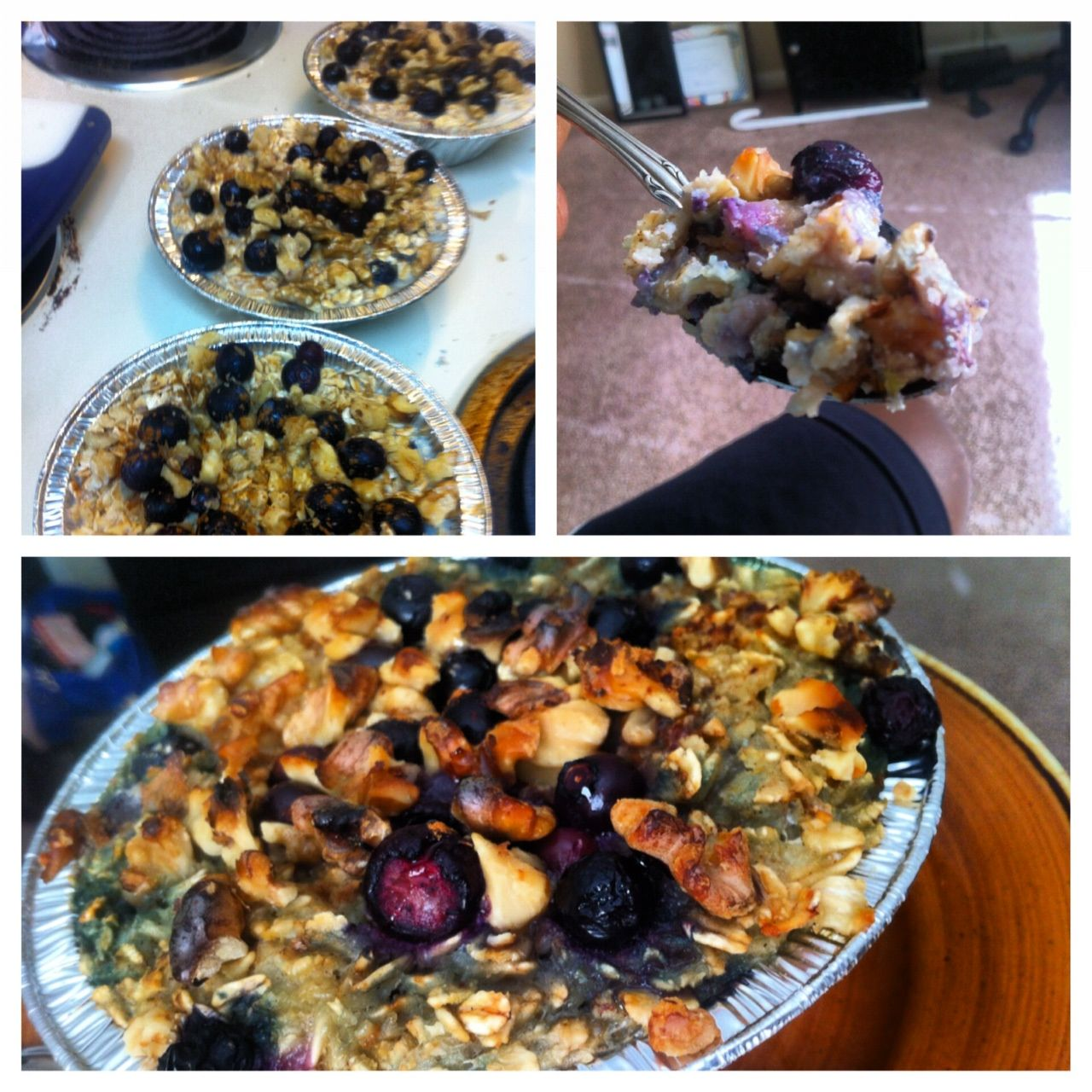 Baked Banana Blueberry Oatmeal Recipe Injoy Food and Fitness