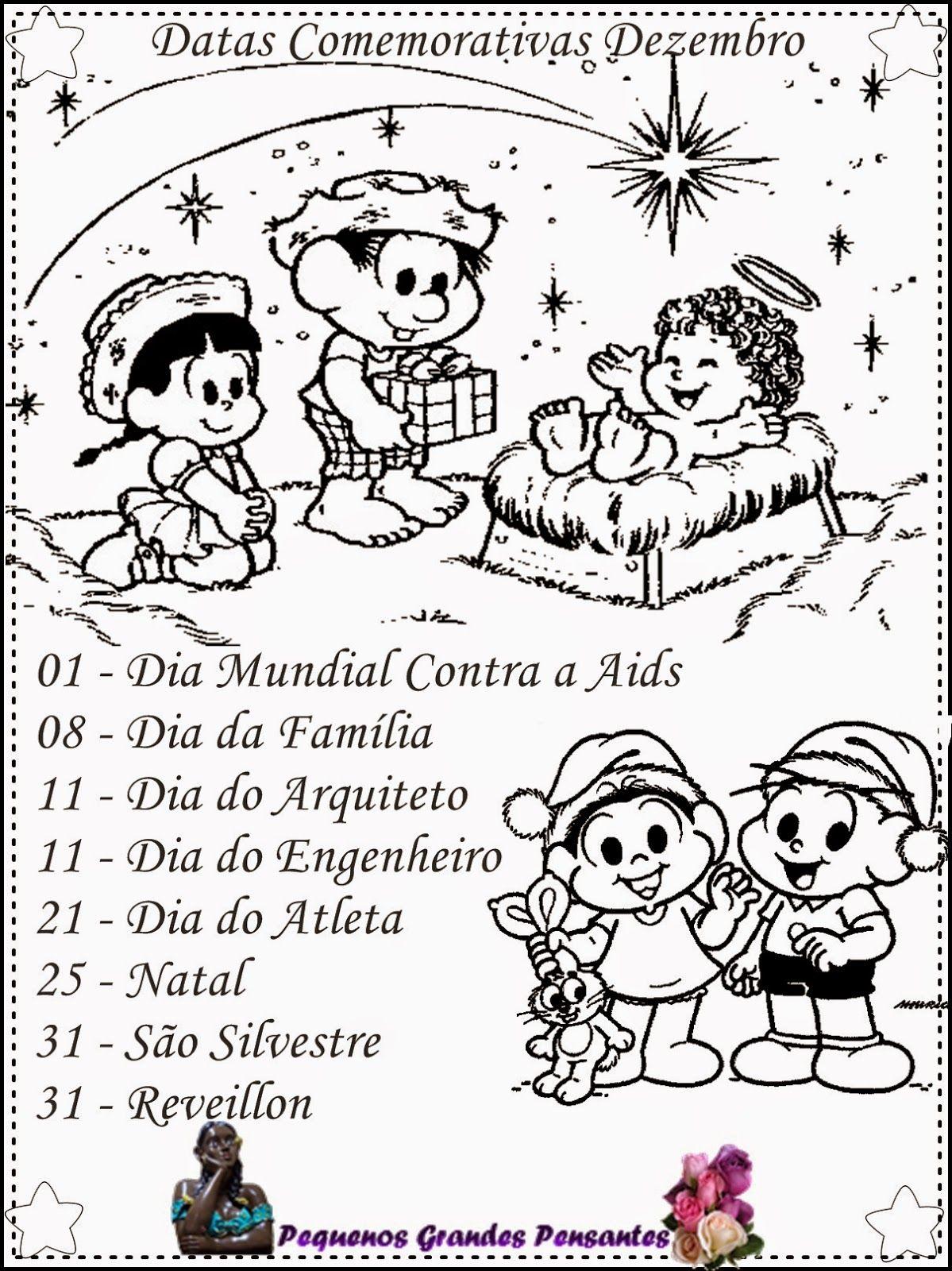 Datas Comemorativas De Dezembro Para Educacao Infantil Datas Comemorativas Educacao Infantil Calendario De Datas Comemorativas