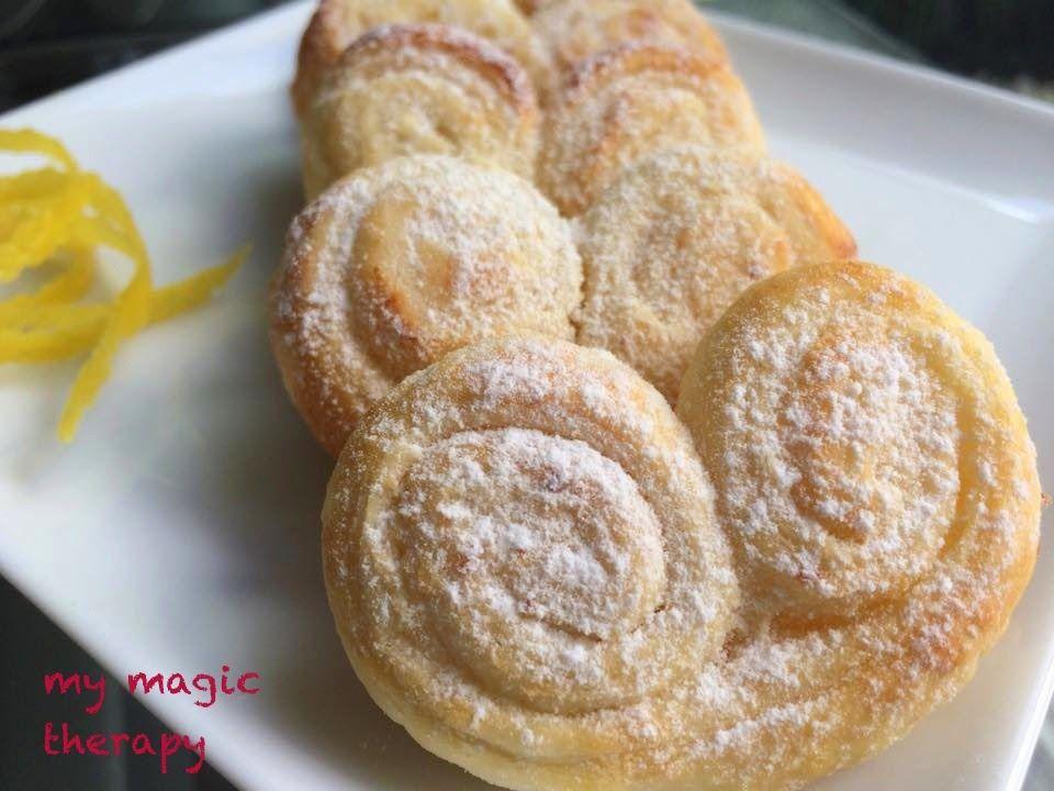 Palmeritas De Limón Con Mascarpone Receta Fácil De Galletas Recetas Dulces Con Hojaldre Pastel De Limon Receta