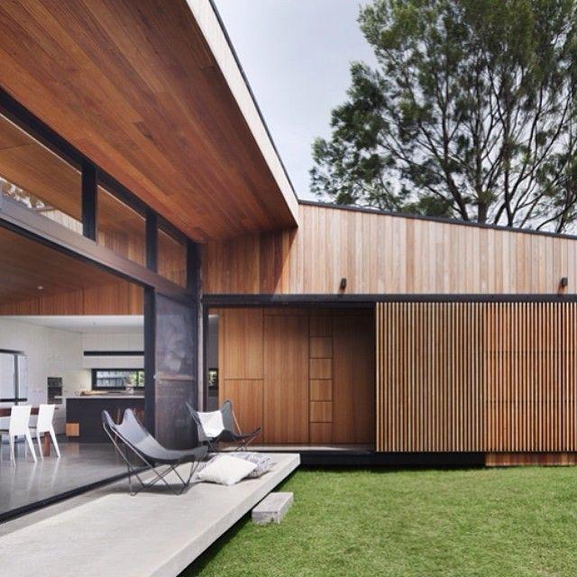 Image Result For Carport Under Modern House: Carport Covered With Slider Door In Slat Style Similar To