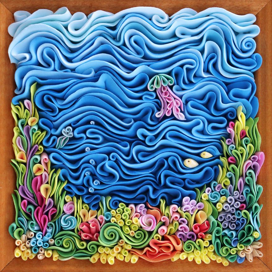 I Create Unique Polymer Clay Panels