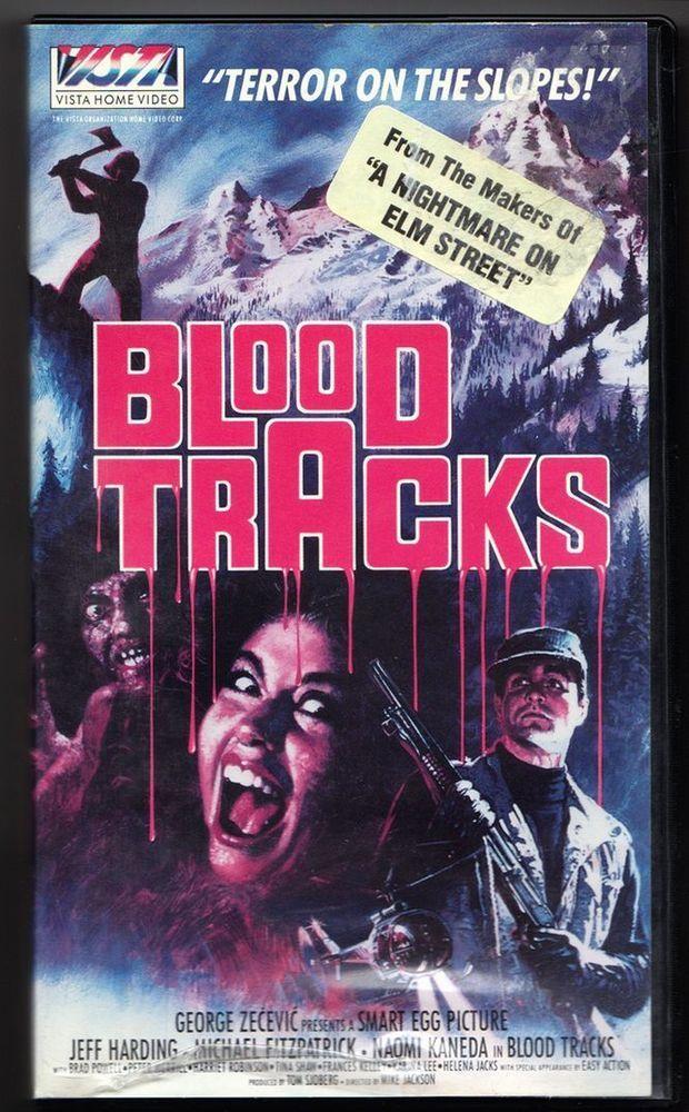 blood tracks #vhs 80's horror mats helge olsson rare vista