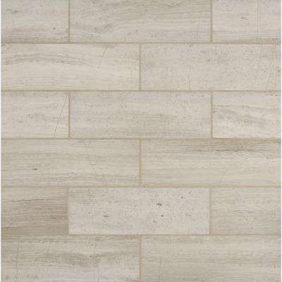 White Oak 4 In X 12 In Honed Marble Floor And Wall Tile 2 Sq Ft