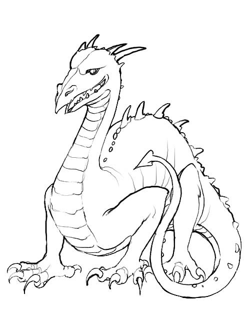 Dragon Coloring Book - Dragon cartoon coloring pages | Project 1 ...