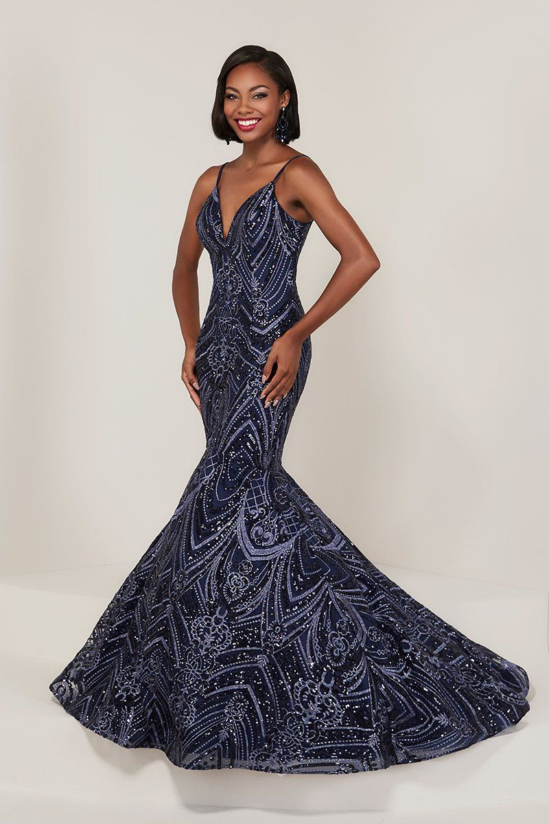 Tiffany designs sequin lace mermaid dress in house of