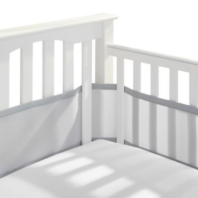 Breathablebaby Mix Match Breathable Mesh Crib Liner In Grey Mist In 2020 Crib Liners Baby Crib Bumpers Baby Cribs