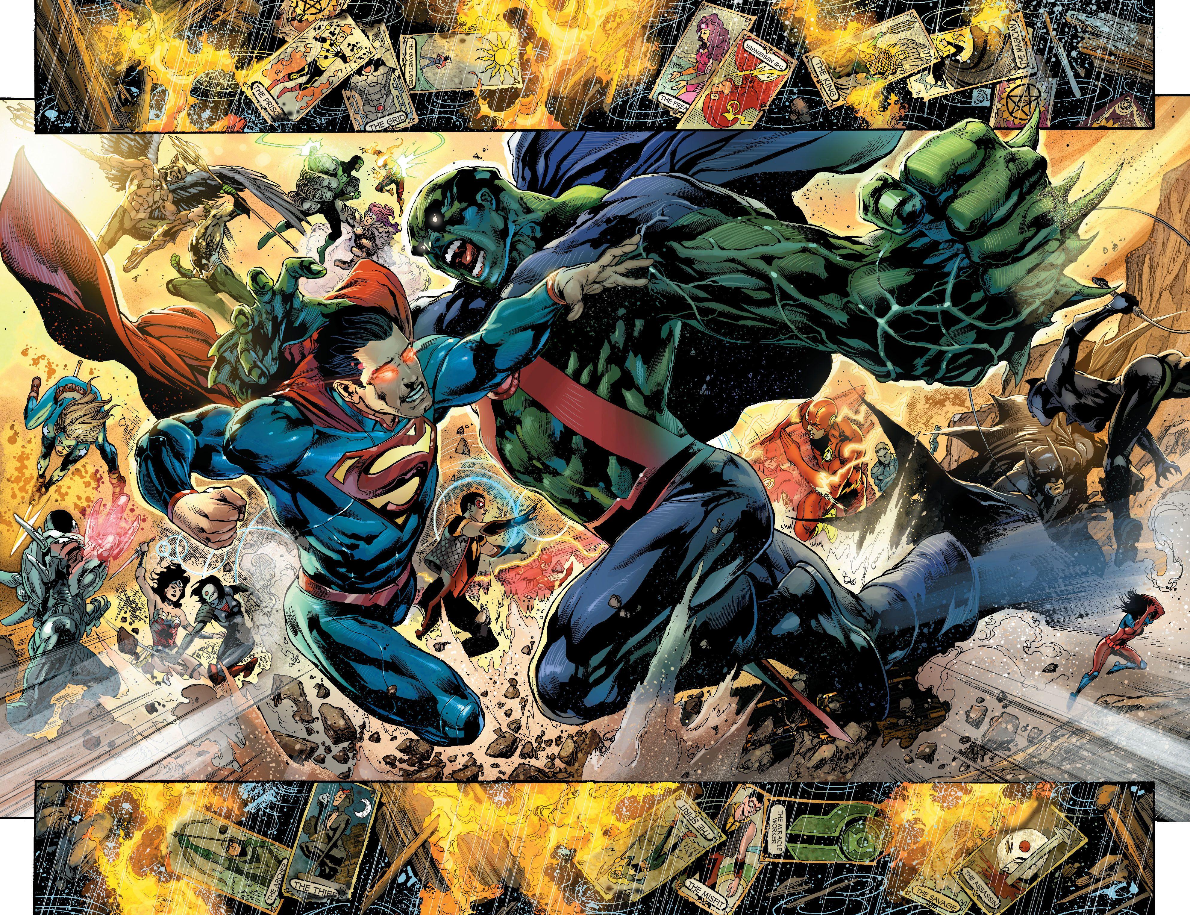 Superman Vs Martian Manhunter Martian Manhunter Justice League Villain Justice League