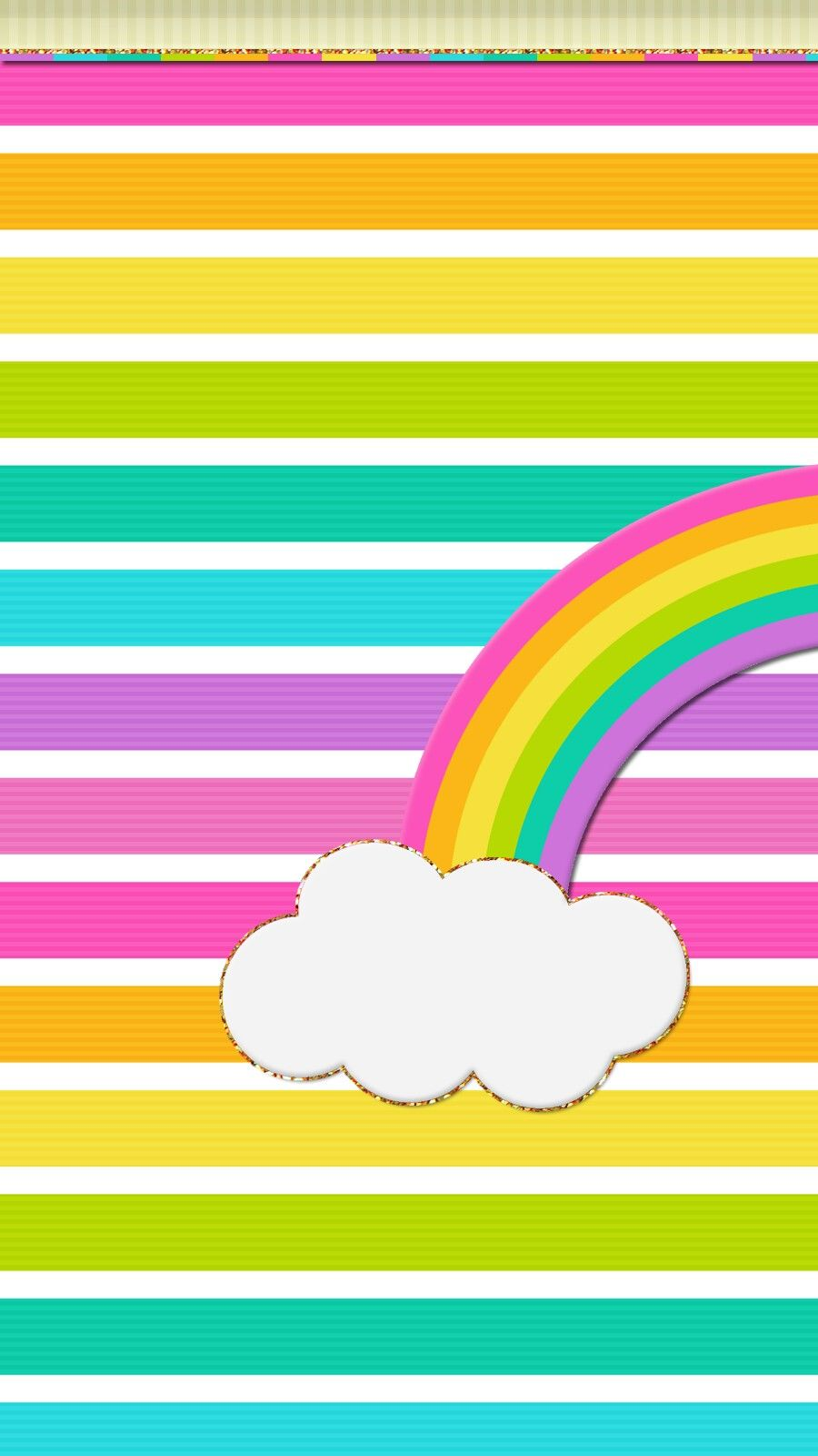 Colourful Rainbow Clouds Smartphone Wallpaper Samsung Galaxy Or