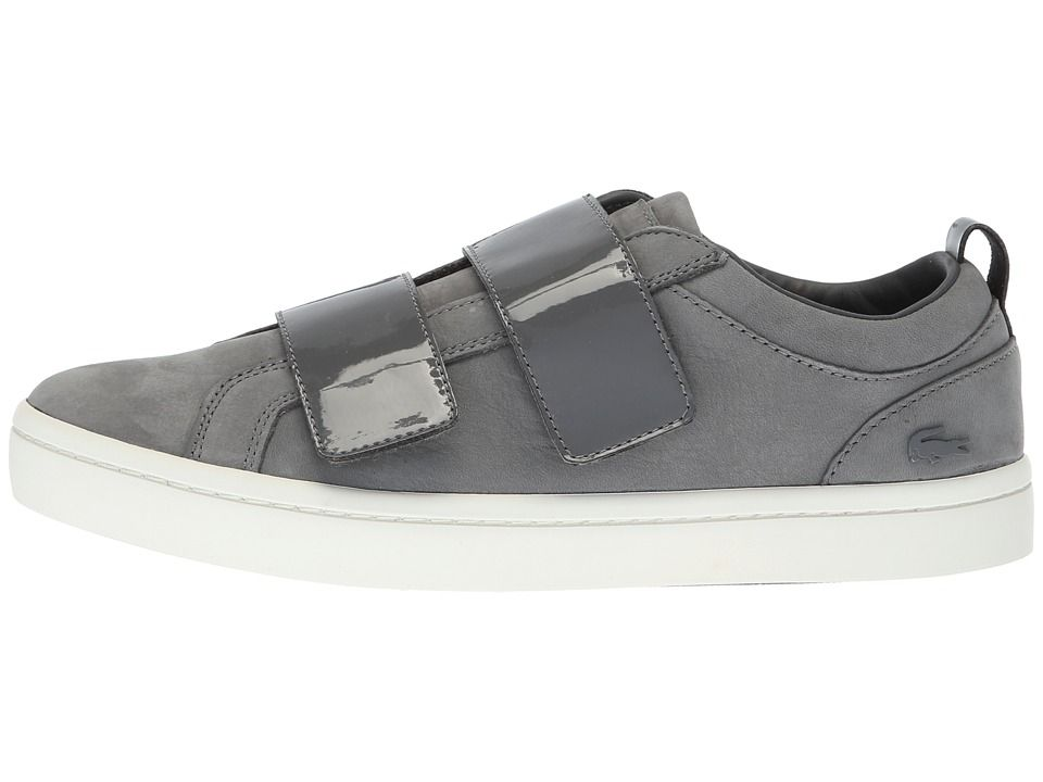 d94a6e9ec6c6c9 Lacoste Straightset Strap 318 1 Women s Shoes Dark Grey Off-White ...